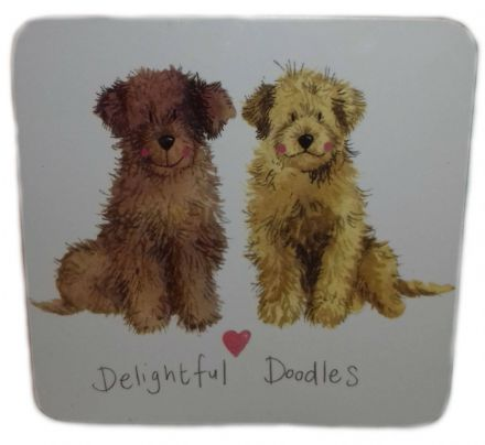 Delightful Doodles Corked Backed Coaster